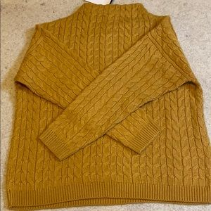 Mango cable knit sweater size M